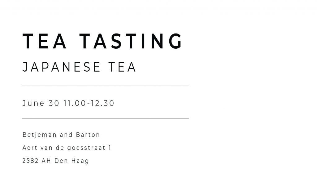 Masterclass Japanse thee – Betjeman and Barton